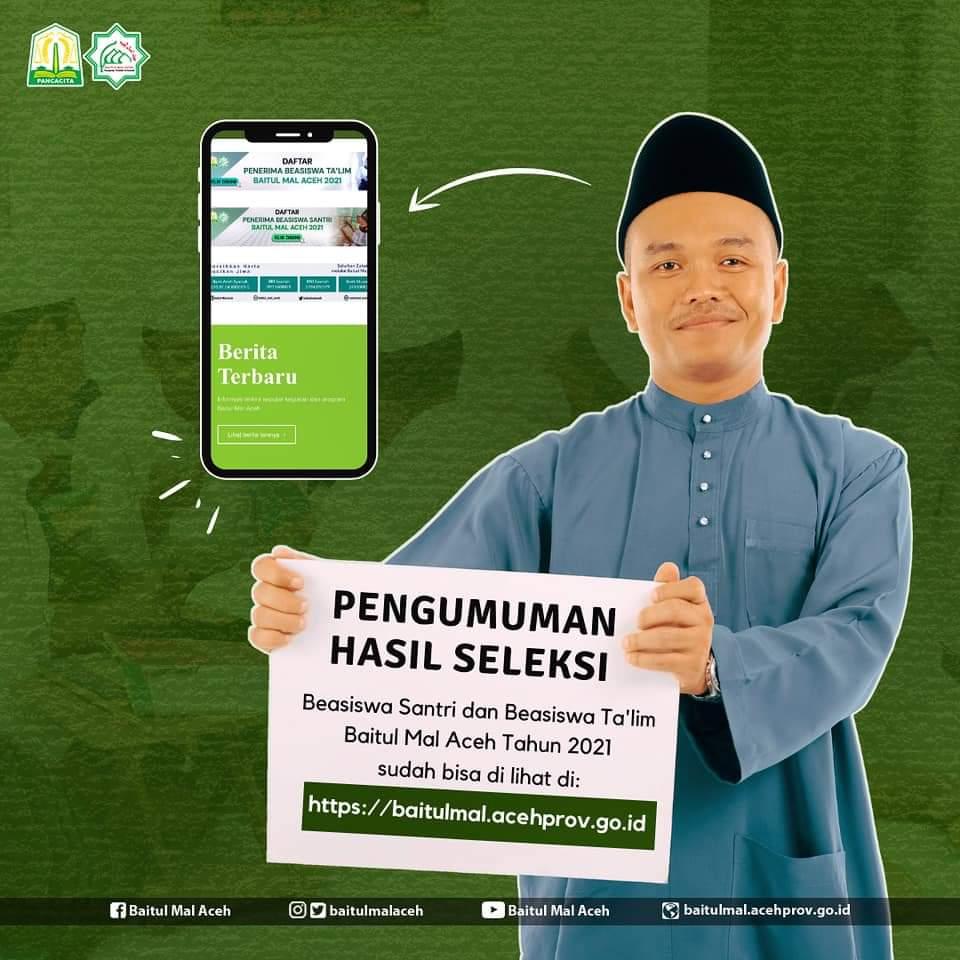 Bma Tetapkan Penerima Bantuan Dana Pendidikan Santri Dan Ta Lim Hafiz 30 Juz Baitul Mal Aceh